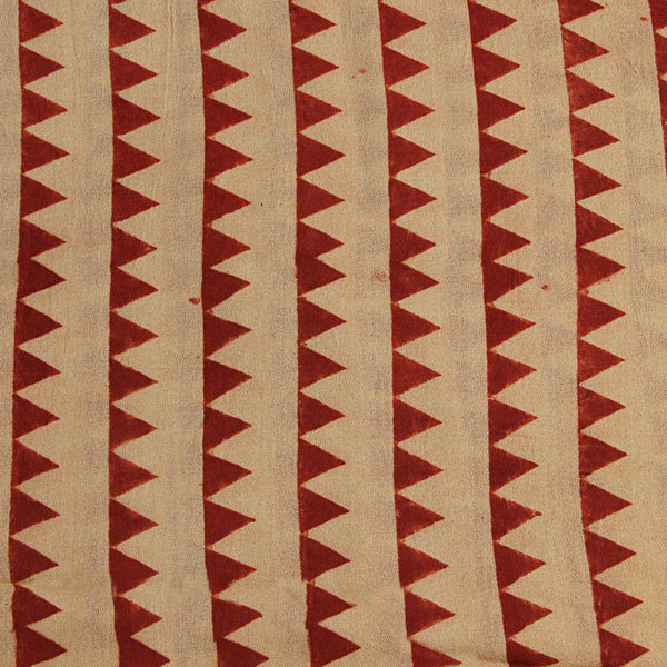Natural Dye Red Triangle Hand Block Print Fabric