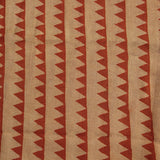 Natural Dye Triangle Hand Block Print Fabric
