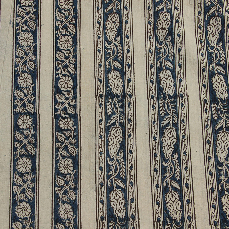 Natural Dye Indigo Hand Block Print Fabric