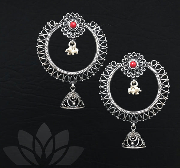 Bead Hoop Design Earrings