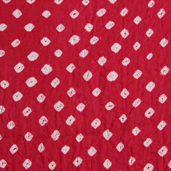 Pink Bandhej Cotton Fabric (2.5 meters)