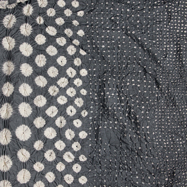 Grey Bandhej Cotton Fabric (4.7)