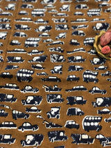 Vehicle Block Print Fabric