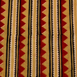 Natural Dyed Red Triangle Ajrakh Cotton Fabric