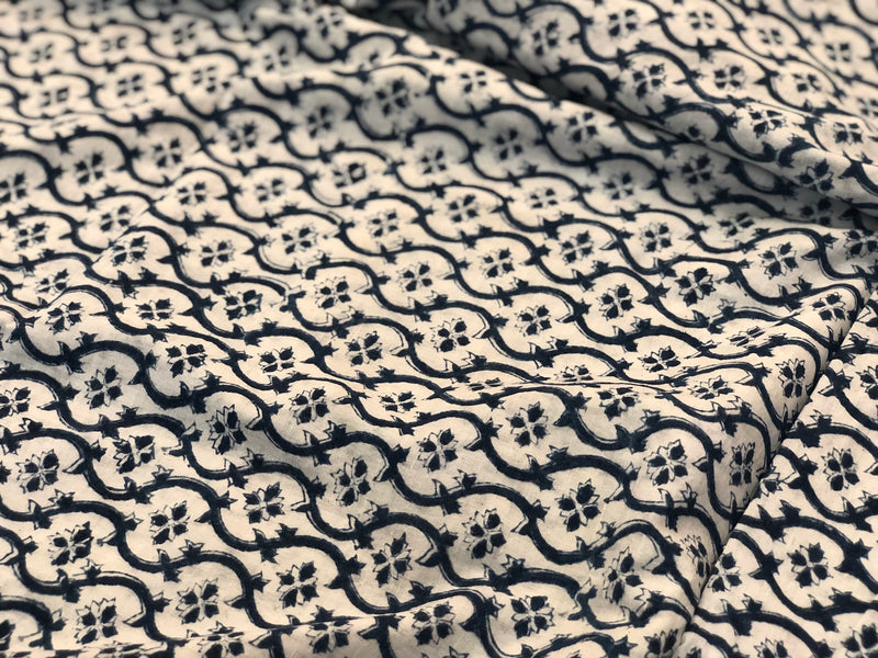 Kalamkari Jaal Cotton fabric
