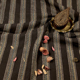 Natural Dyed Earthy - Blue Small Leaf Ajrakh Cotton Fabric