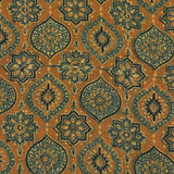 Natural Dyed Mustard Design Ajrakh Mul Cotton Fabric