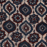 Natural Dyed Indigo Design Ajrakh Mul Cotton Fabric