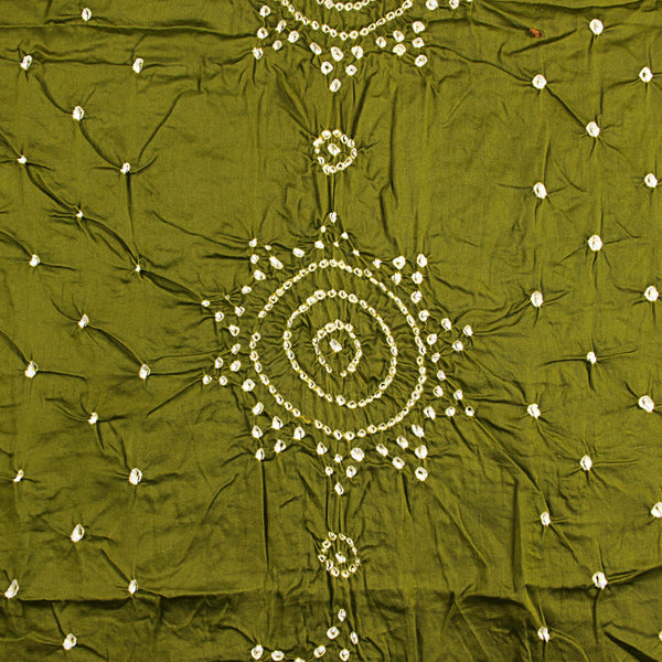 Heena Green Bandhej Cotton Fabric (2.5)
