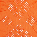 Saffron Block Print Bandhej Cotton Fabric (2.5meter)