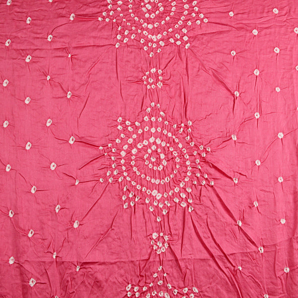 Gulabo Flower Bandhej Cotton Fabric (2.5meter)