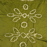 Light Green Bandhej Cotton Fabric (2.5meter)
