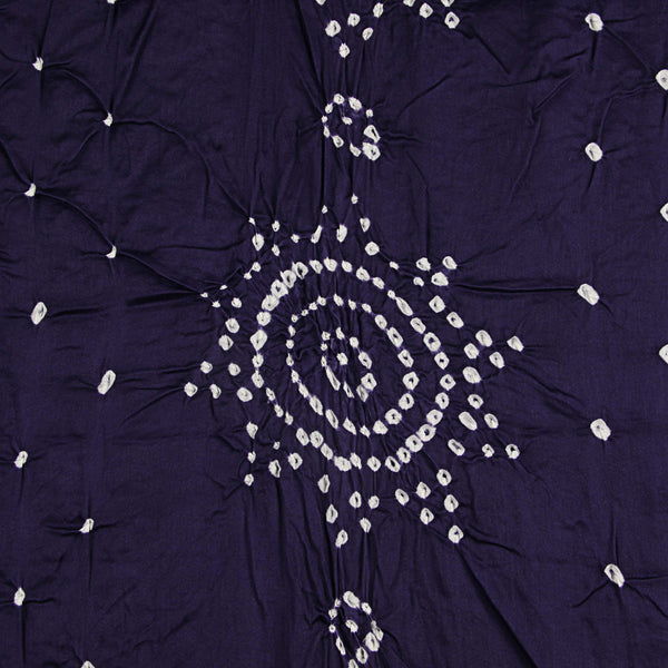 Dark Purple Bandhej Cotton Fabric (2.5meter)
