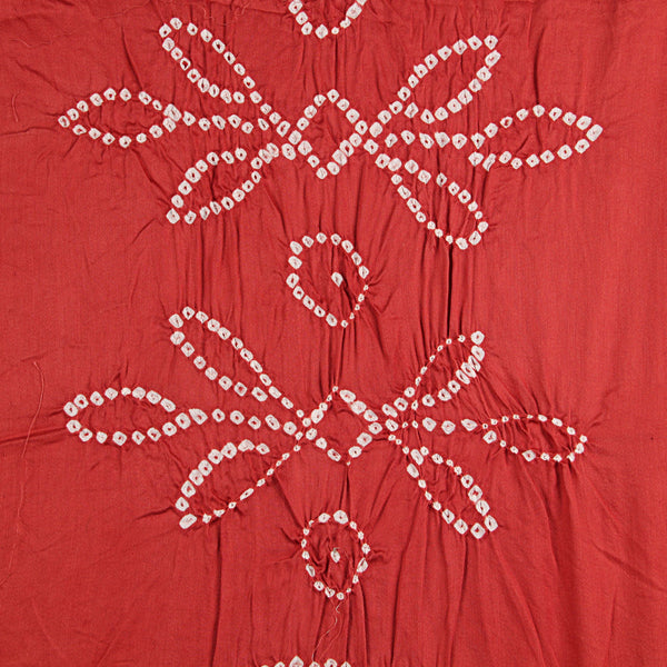 Rust Maddar Bandhej Cotton Fabric (2.5meter)