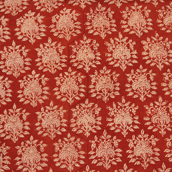 Rusty Design Block Printed Cotton Fabric