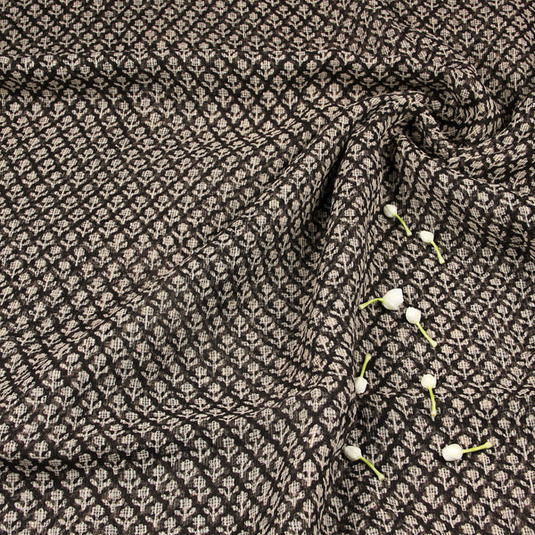 Black Kota Doriya Fabric