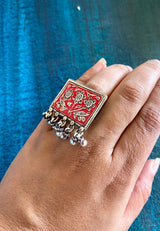 Stamped Rectangle Ring