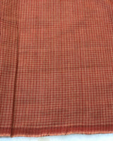 Mangalgiri Brown Checks Fabric