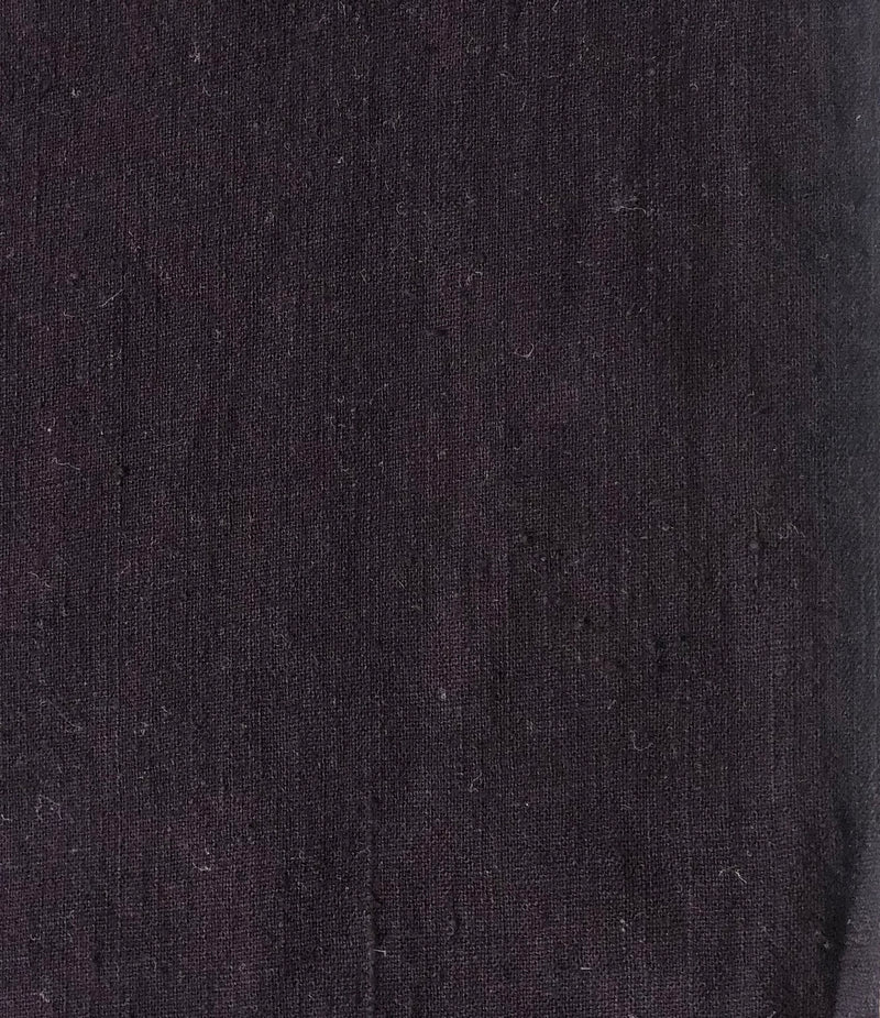 Black Hand Spun Handwoven Natural Dyed Fabric