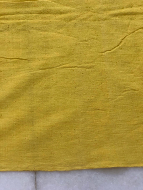 Lime Yellow Hand Spun Handwoven Natural Dyed Fabric