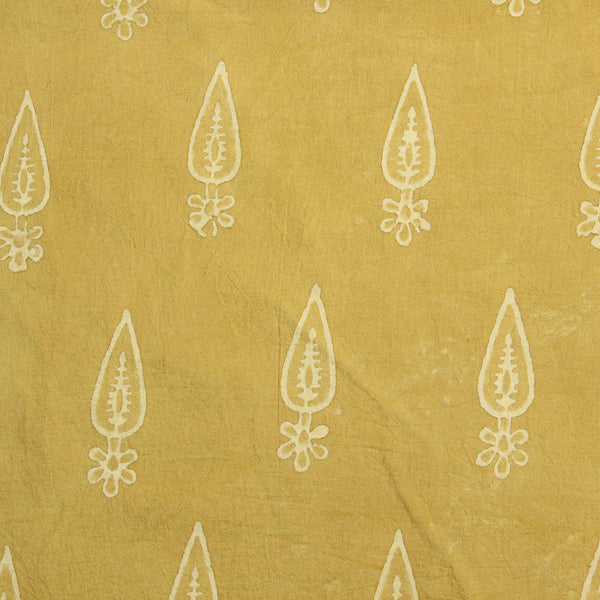 Pineapple Yellow Balotra Traditional Cotton Fabric
