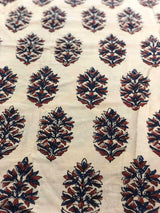 Cream Block Print Fabric (1.5m)