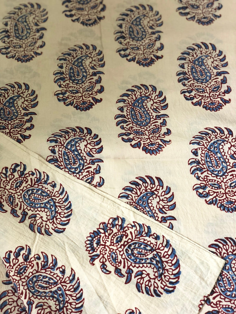 Paisley Ivory Mul Cotton Fabric