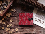 Handmade Madder Cotton Unisex Wallet