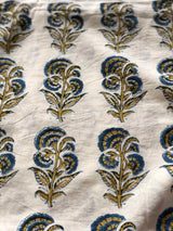 Iris Block Printed Cotton Fabric