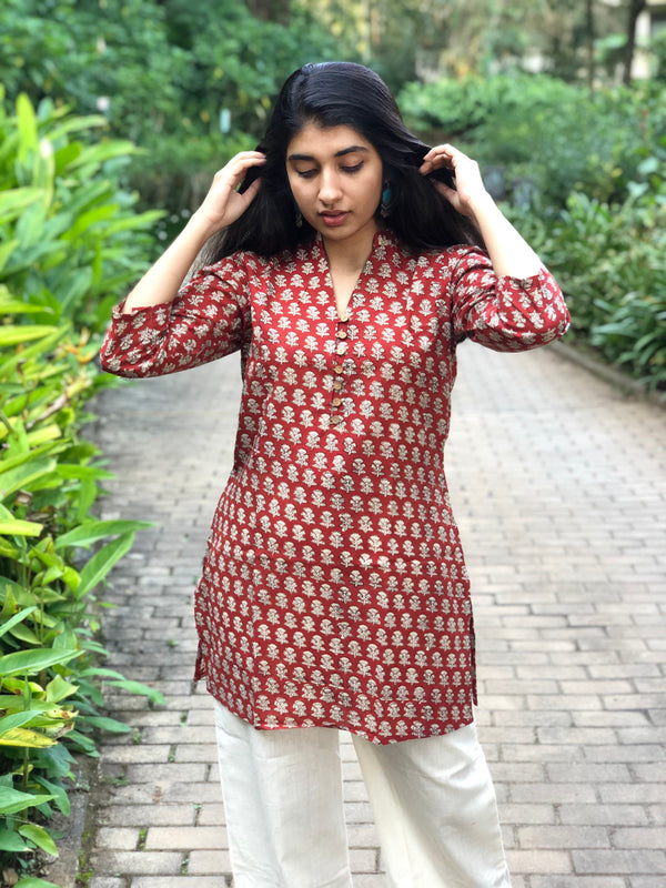 Adweta Kali Short Cotton Kurta