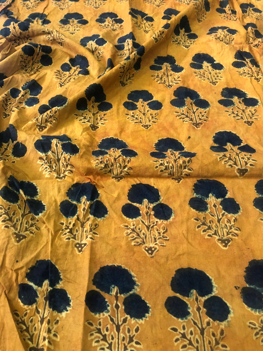 Haldi Yellow Dahlia Blouse Fabric (1.15m)