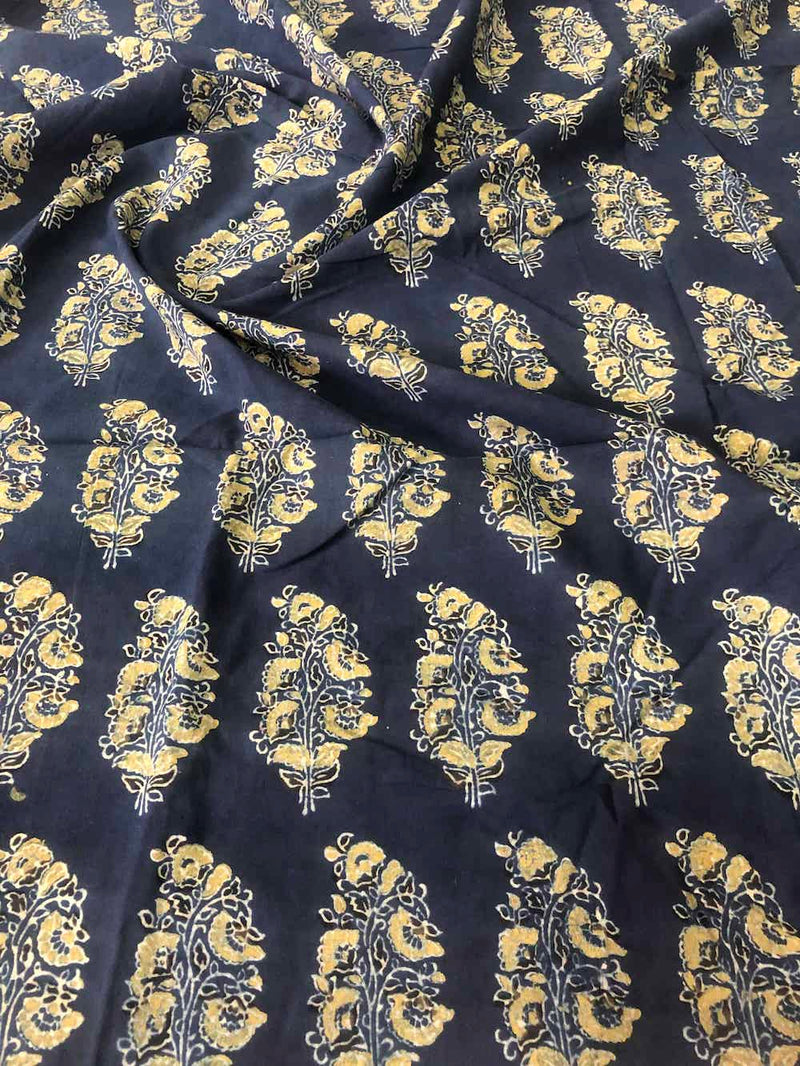 Ajrakh Butta Blouse Fabric (1.2meters)