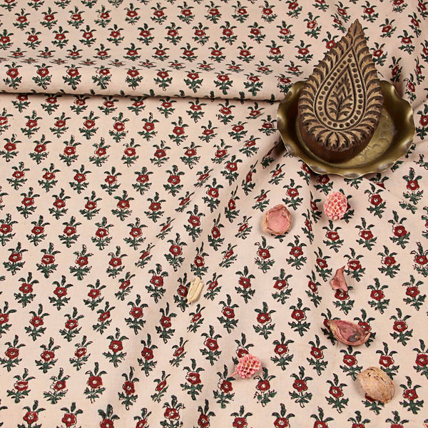 Bagru Hand Block Printed Cotton Fabric