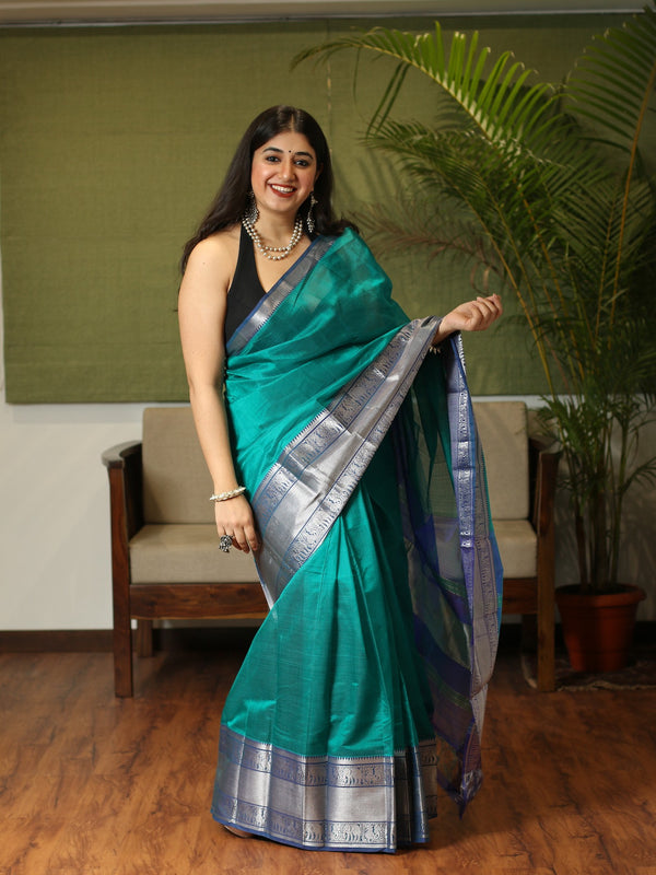Mangalgiri Cotton Silk Handwoven Saree