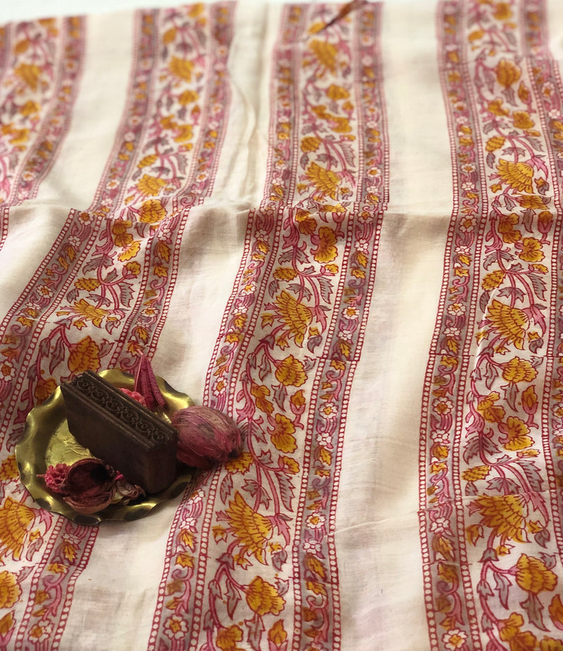 Phool Bel Chanderi Silk Fabric
