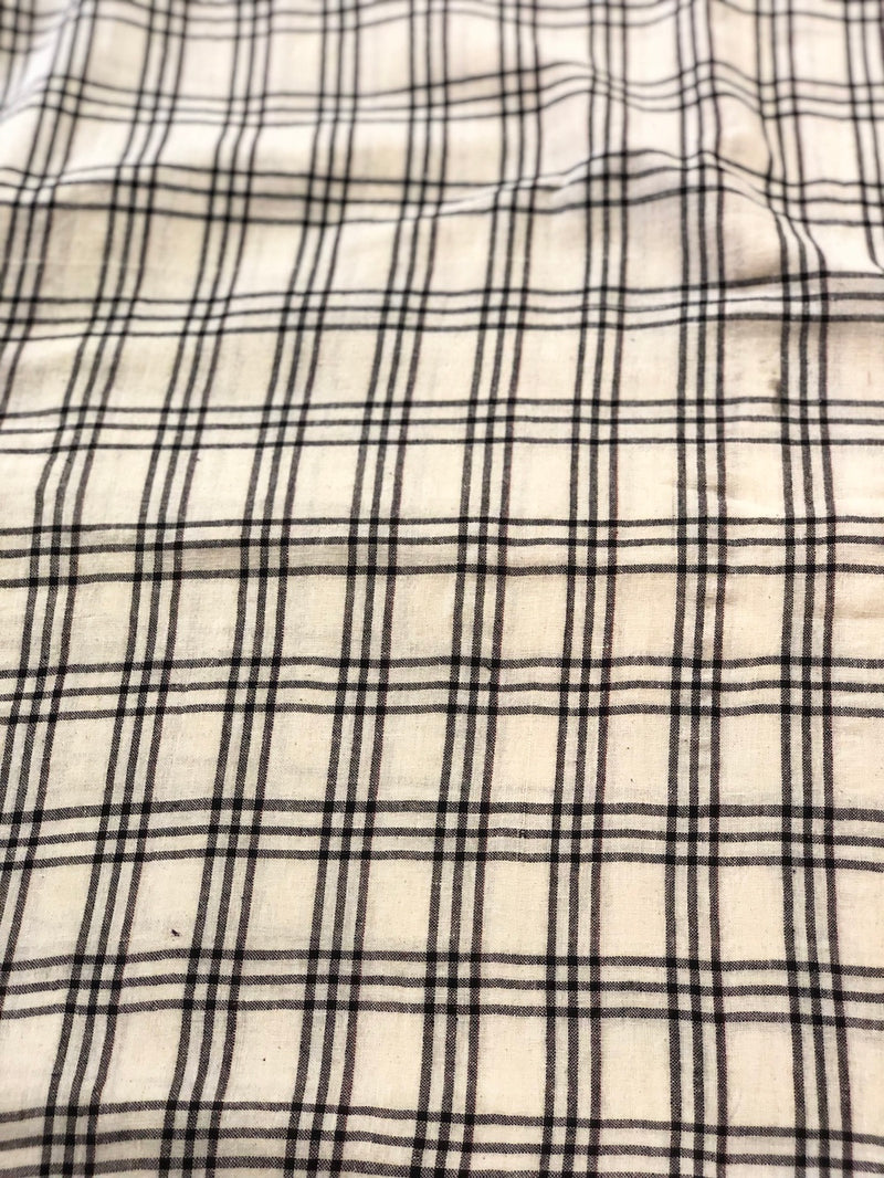 Checked Handwoven Kotpad Cotton Fabric