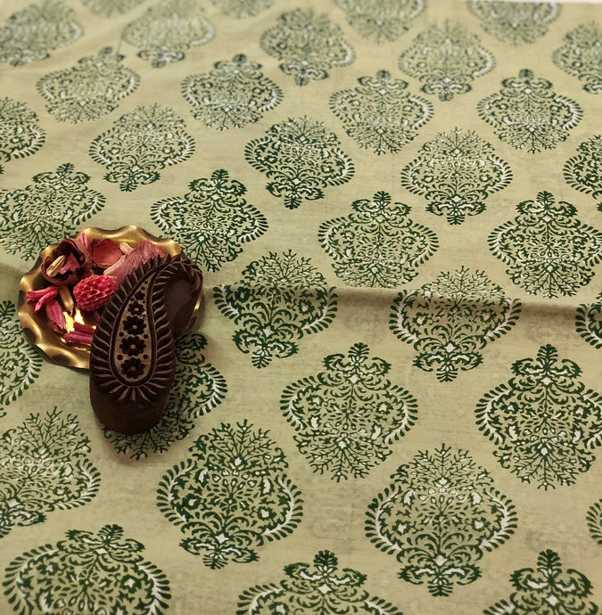 Tulsi Chanderi Silk Fabric
