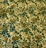 Lotus Garden Block Print Fabric