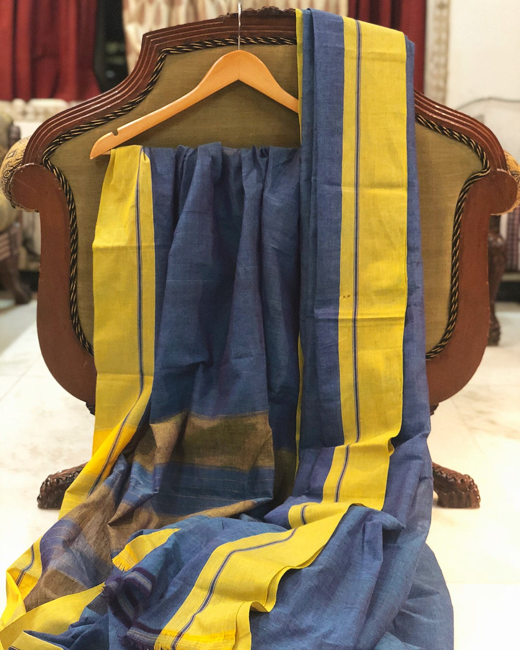 Patteda Anchu Handwoven  Cotton Saree
