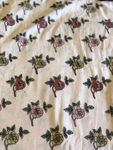 Small Rose Block Print Fabric