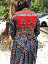 Abhiruchi Indigo Madder Patchwork Dress