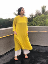 Sunshine Yellow Kala Cotton Kurta