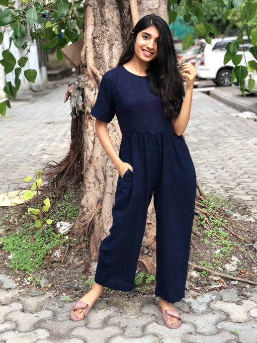 Work & Play Organic Indigo Jumpsuit