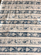 Floral Border Block Printed Cotton Fabric