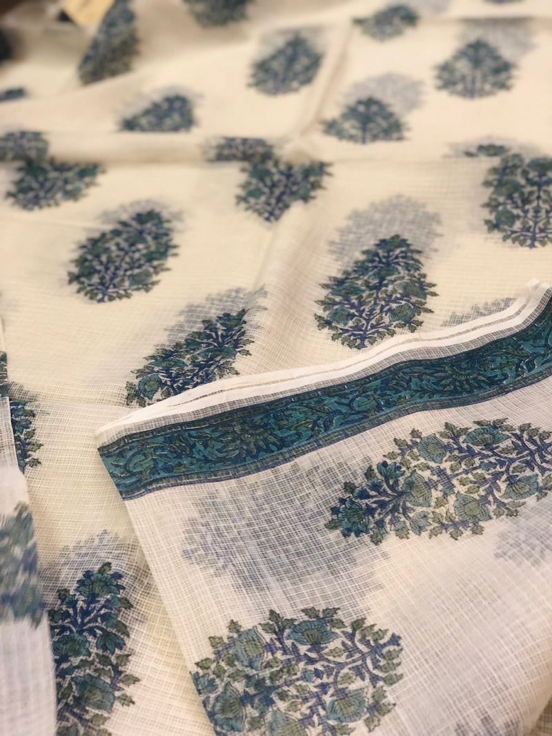 Blue Kota Doriya Fabric