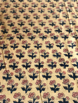 Light Yellow Kali Block Print Fabric
