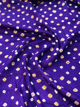 Purple Bandhej Fabric