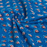 Bagru Indigo Phool Cotton Fabric