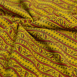 Ajrakh Mustard Border Cotton Fabric