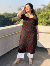 Raatrani Cotton Bandhej Kurta